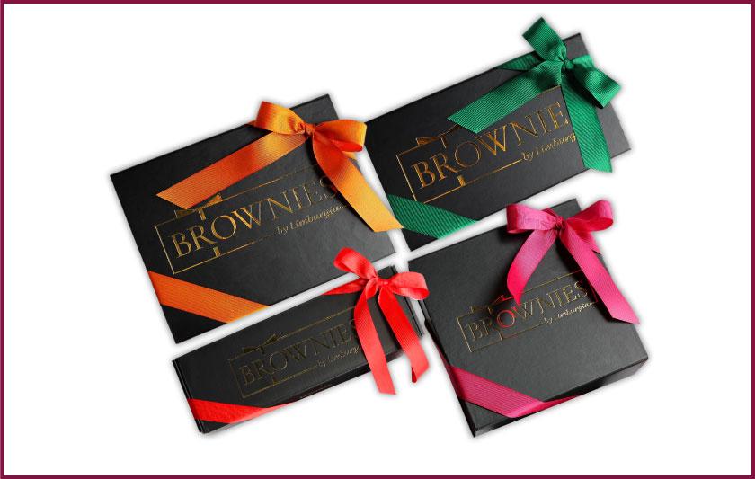 Brownies en tatlı hediye yeni yıl hediyesi