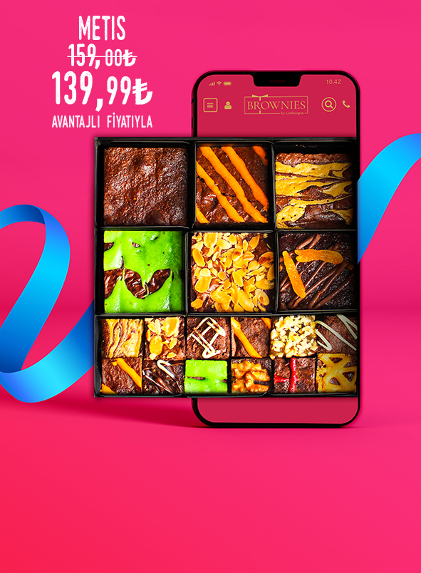Metis haftanın özel indirimli brownie hediye kutusu